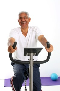 Senior Minority Man Working Out Set On A White Background